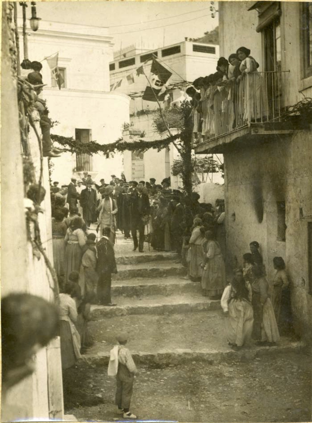 King Gustaf V and Queen Victoria of Sweden visiting Anacapri 1913