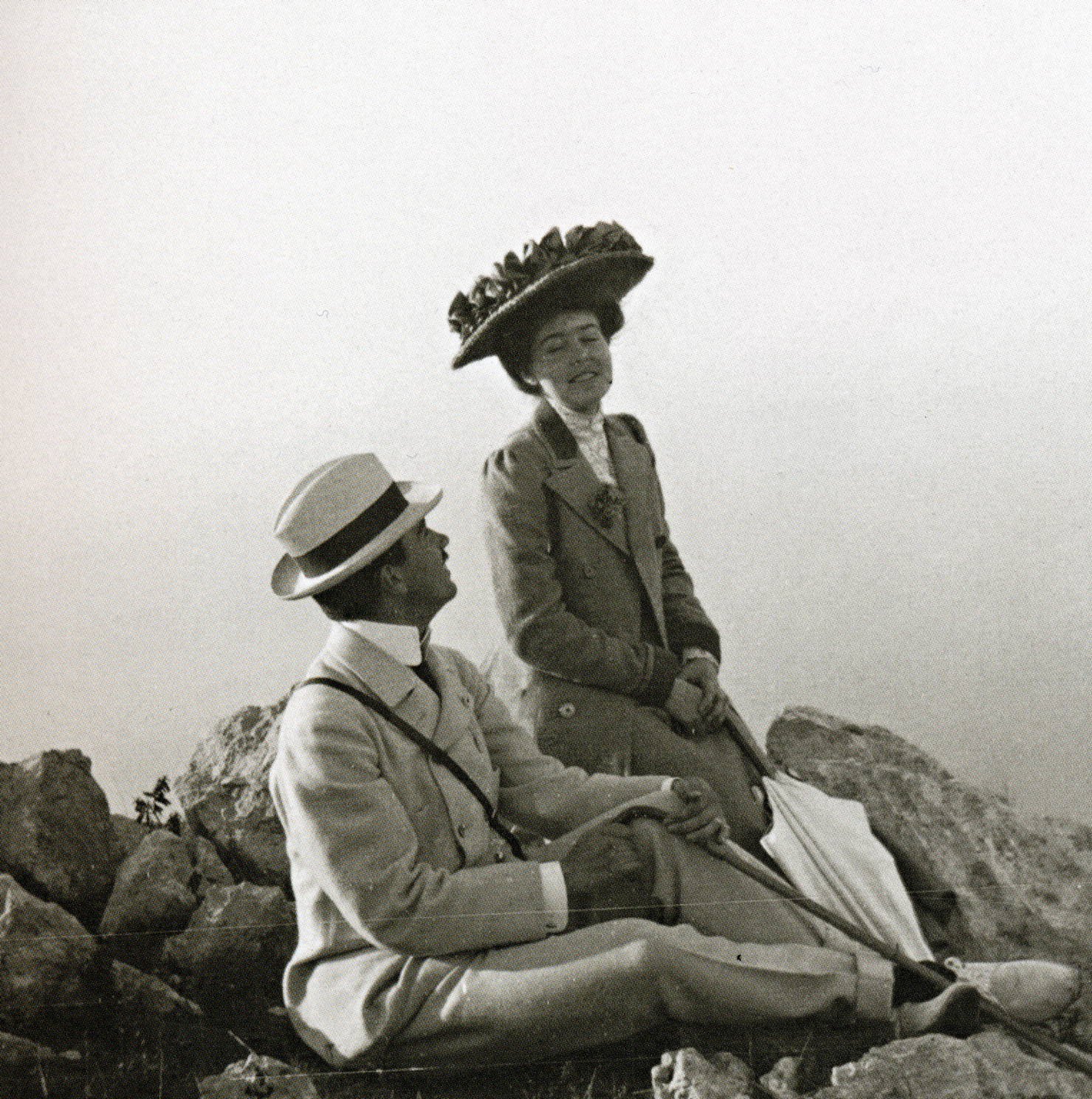 Prince Gustaf Adolf with his fiancée, Princess Margaret of Connaught